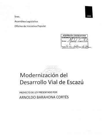 (DiaroExtra) Pretenden modernizar vías en Escazú