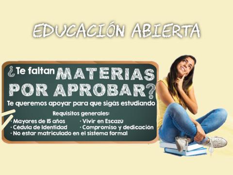 Pre matrícula Educación Abierta - Escazú - 2019