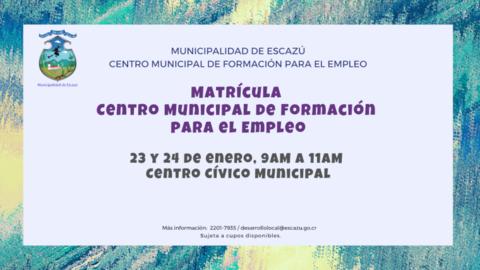Matrícula I Bimestre del año 2020 - CMFE - Escazú