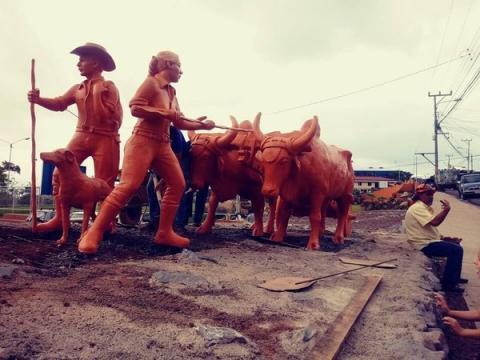 San Antonio de Escazú ya tiene su Monumento al Boyero